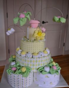 4 tier Diaper cake