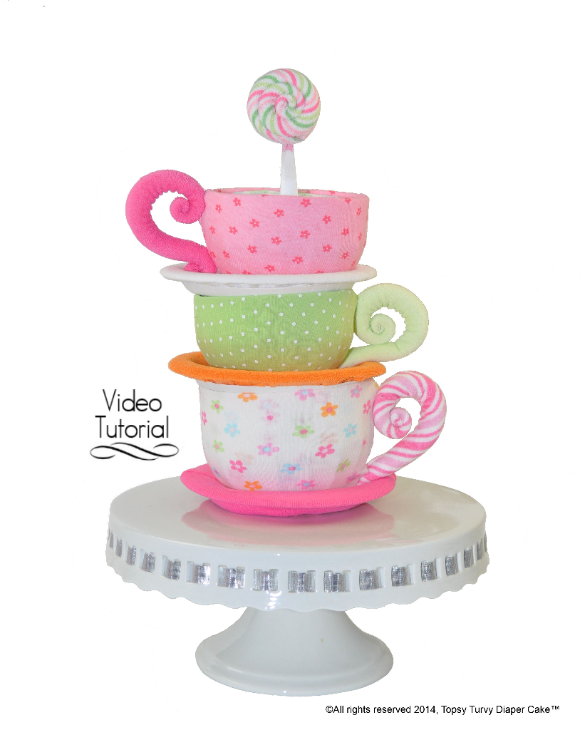 Baby Showers Nappy Cakes ~ Diaper cakes topsy turvy cake