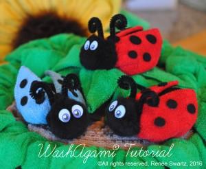 Ladybug washcloth