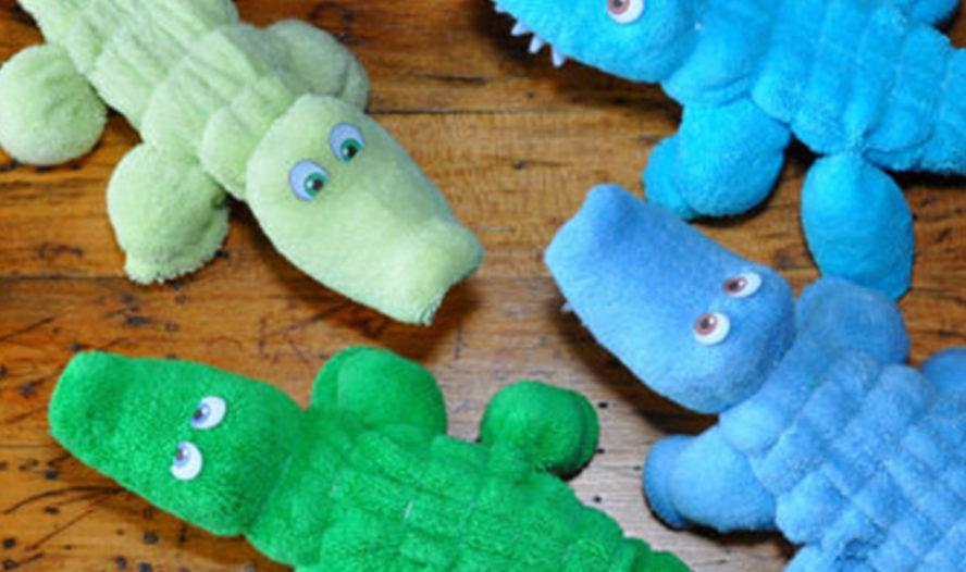 New Design! Baby Washcloth Crocodile WashAgami®